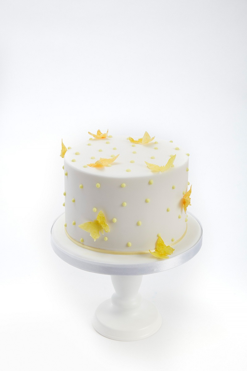 Butterfly & Polka Dot Cake | Clare Anne Taylor Couture Cakes