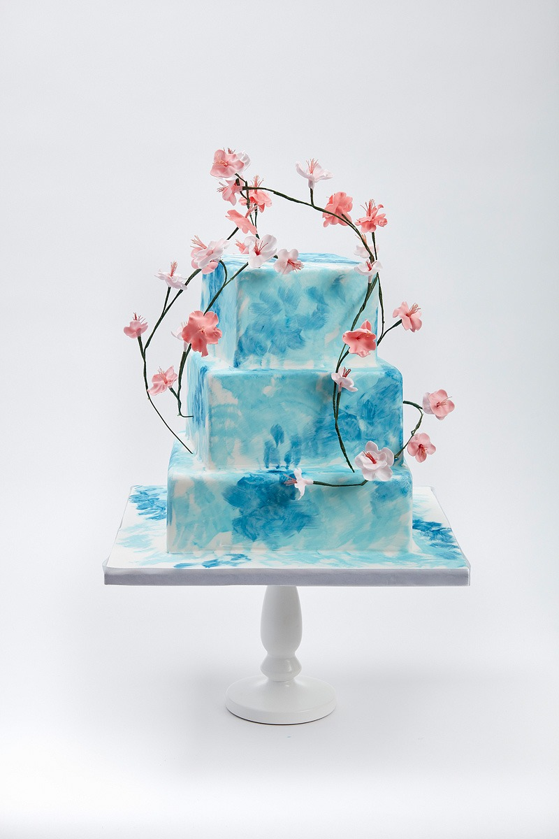 Cherry Blossom Sky | Clare Anne Taylor Couture Cakes