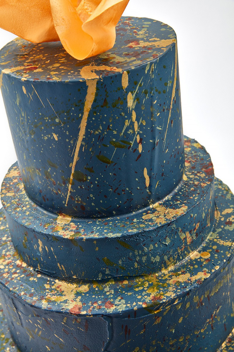 Navy & Gold Explosion | Clare Anne Taylor Couture Cakes