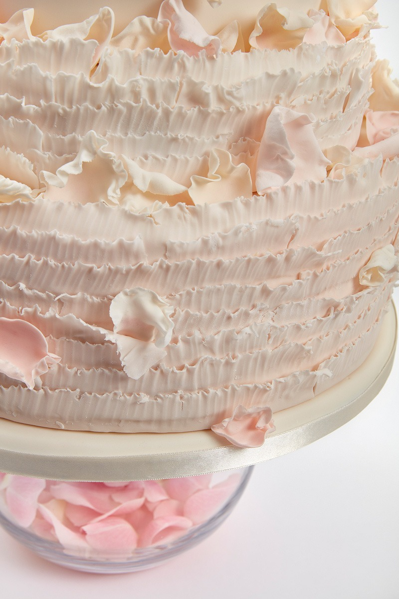 Ruffles & Falling Petals | Clare Anne Taylor Couture Cakes