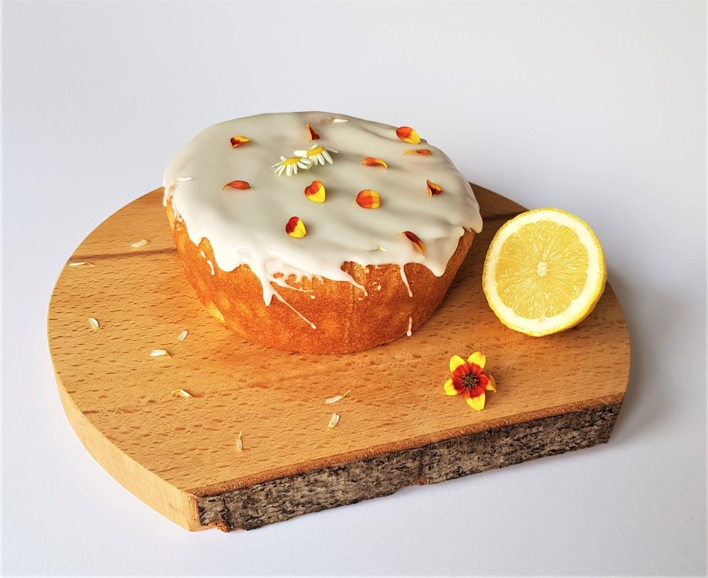 Vegan Lemon and Coconut Drizzle Cake
